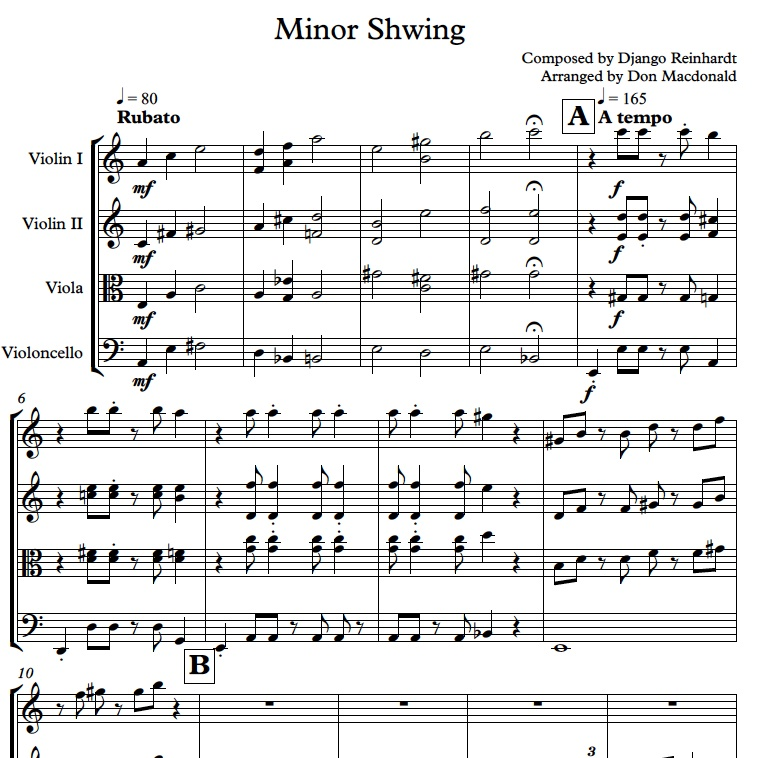 django reinhardt minor swing